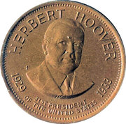 Token - Presidential Hall of Fame (Herbert Hoover) – obverse