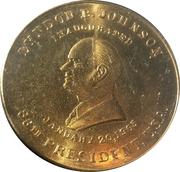 Token - Lyndon B. Johnson (Inaugurated) – obverse