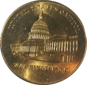 Token - Lyndon B. Johnson (Inaugurated) – reverse