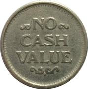 Token - No Cash Value (Eagle looking right; 23.2 mm; Brass) – reverse