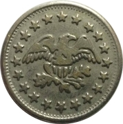 Token - No Cash Value (Eagle looking right; 23.2 mm; Brass) – obverse
