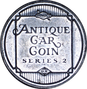 Sunoco Antique Car Coin - Series 2 (Hupmobile) – reverse