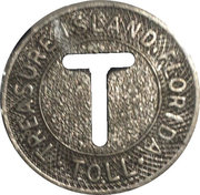 Token - Treasure Island Causeway (Florida) – reverse