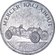 Token - Sunoco Antique Car Coin Series 1 (Mercer Raceabout) – obverse