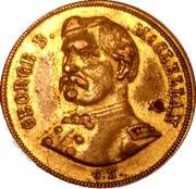 George B. McClellan gilded campaign token (1864) – obverse