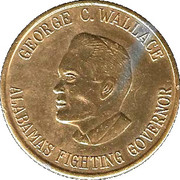 George C. Wallace token – obverse