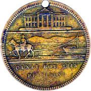 Token - James A Garfield Canal Boy To President – reverse