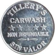 Car Wash Token - Tillery's Carwash – obverse