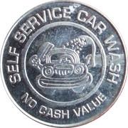 Car Wash Token - Tillery's Carwash – reverse