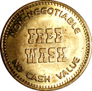 Car Wash Token - Gulf - Free Wash – reverse