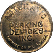 Parking Token - Automatic Parking Devices Inc. (Farmington Hills, Mich.) – obverse