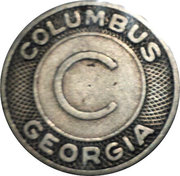 Token - Columbus Transportation Company (Columbus, Georgia) – reverse