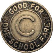 1 School Fare - Columbus Transportation Company – reverse