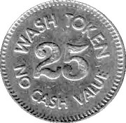 25 Cents Wash Token (Steamboat) – reverse