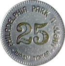 25 Cents Wash Token - Philadelphia Park n Clean – reverse