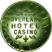 Token - Overland Hotel Casino (Reno, Nevada) – reverse