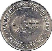 25 Cent Gaming Token - Isle of Capri Casino (Kansas City, MO) – obverse