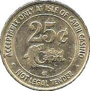 25 Cent Gaming Token - Isle of Capri Casino (Kansas City, MO) – reverse
