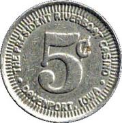 5 Cent Gaming Token - President Riverboat Casino – obverse