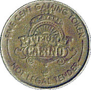 5 Cent Gaming Token - Riverboat Casino – reverse