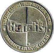 10 Cent Gaming Token - Harrah's Atlantic City – obverse