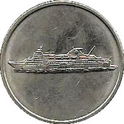 25 Cent Gaming Token - Island Holiday – obverse