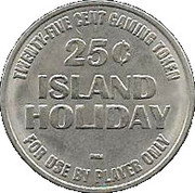 25 Cent Gaming Token - Island Holiday – reverse