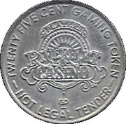 25 Cent Gaming Token - Players Riverboat Casino – obverse