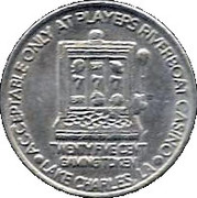 25 Cent Gaming Token - Players Riverboat Casino – reverse