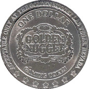1 Dollar Gaming Token - Golden Nugget Casino (Las Vegas) – reverse