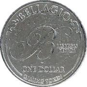 1 Dollar Gaming Token - Bellagio (Las Vegas, Nevada) – obverse