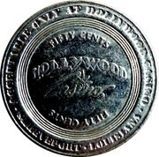 50 Cent Gaming Token - Hollywood Casino – obverse
