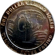 1 Dollar Gaming Token - Clarion Hotel Casino (Reno, Nevada) – reverse