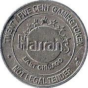 25 Cent Gaming Token - Harrah's Casino (East Chicago) – obverse