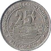 25 Cent Gaming Token - Harrah's Casino (East Chicago) – reverse
