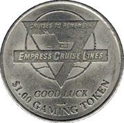 1 Dollar Gaming Token - Empress Cruise Line – obverse