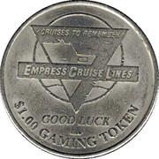 1 Dollar Gaming Token - Empress Cruise Line – reverse