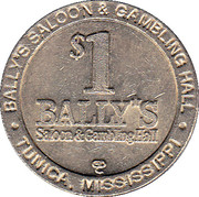1 Dollar Gaming Token - Bally's (Tunica) – obverse