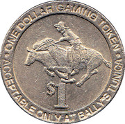 1 Dollar Gaming Token - Bally's (Tunica) – reverse