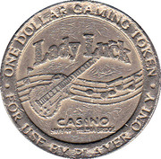 1 Dollar Gaming Token - Lady Luck Casino (Coahoma, MS) – obverse