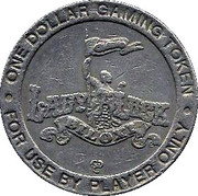 1 Dollar Gaming Token - Lady Luck Casino (Biloxi, MS) – reverse