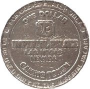 1 Dollar Gaming Token - Imperial Palace (Las Vegas) – reverse