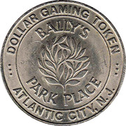 1 Dollar Gaming Token - Bally's Park Place (Atlantic City) – obverse