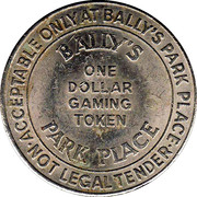 1 Dollar Gaming Token - Bally's Park Place (Atlantic City) – reverse
