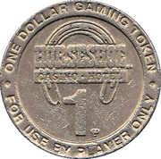 1 Dollar Gaming Token - Horseshoe Casino (Tunica) – reverse