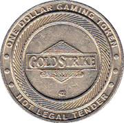 1 Dollar Gaming Token - Gold Strike Casino – obverse
