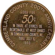 50 Cents - Cumberland County (200th Anniversary) – reverse
