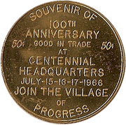 50 Cents - Illinois (100th anniversary New Athens) – reverse