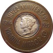 Encased Mercury Dime - Virginia Mirror Co. – obverse