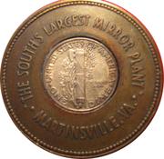 Encased Mercury Dime - Virginia Mirror Co. – reverse